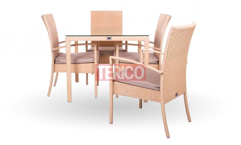 "Комплект мебели №1 ""Кипр-Маверик макси"" стол, 4 стула"