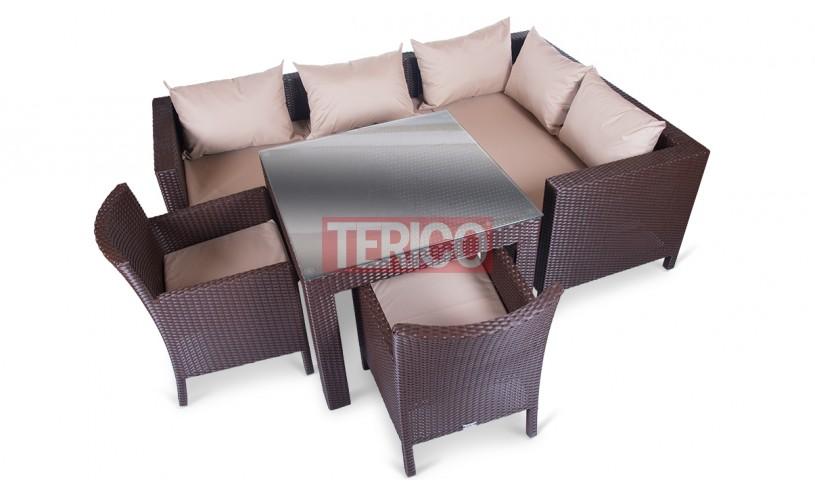 """Комплект мебели №10 """"Египет-Кипр"""" стол, диван, МУ, 2 кресла"""