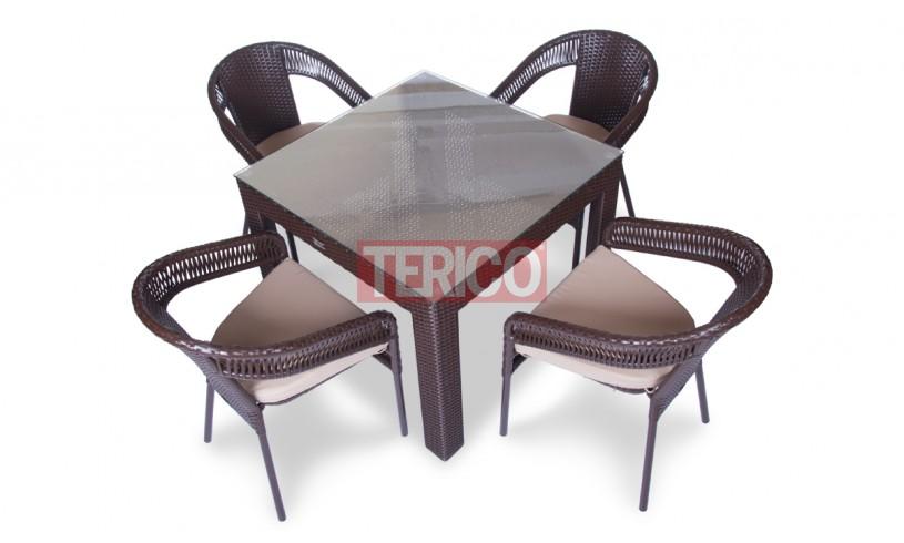 "Комплект мебели №13 ""Египет-Верона ажур"" стол, 4 стула"