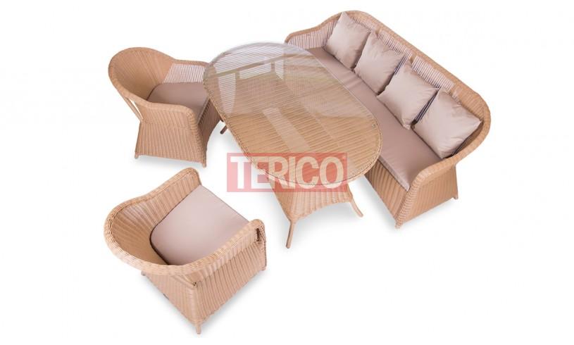 """Комплект мебели №14 """"Севилья"""" стол, диван, 2 кресла"""