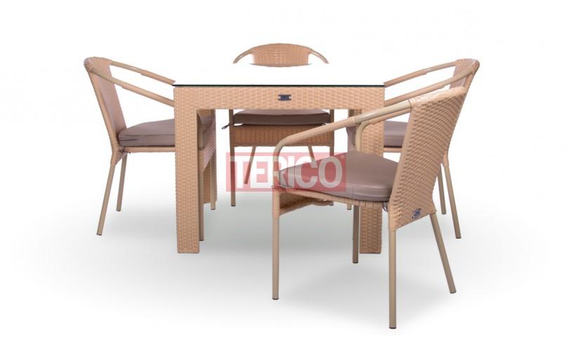 """Комплект мебели №3 """"Египет-Верона лайт"""" стол, 4 стула"""