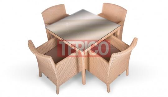 """Комплект мебели №4 """"Кипр"""" стол, 4 кресла"""