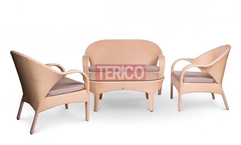 """Комплект мебели №8 """"Флоренция"""" журнальный стол, диван, 2 кресла"""