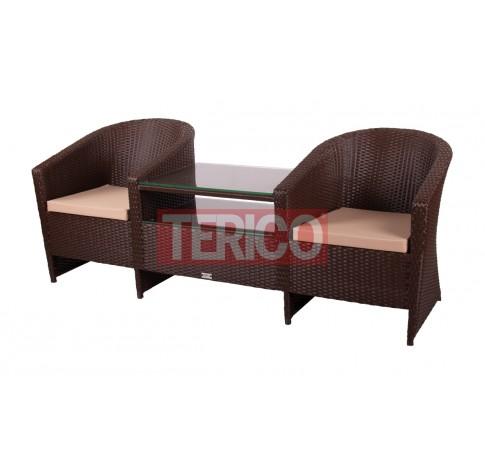Кресло Барселона Дабл (2 кресла+стол)