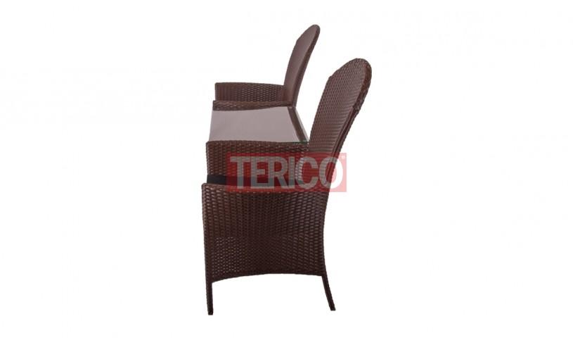 Кресло из ротанга Милано Дабл (2 кресла+стол)2050х750х810h