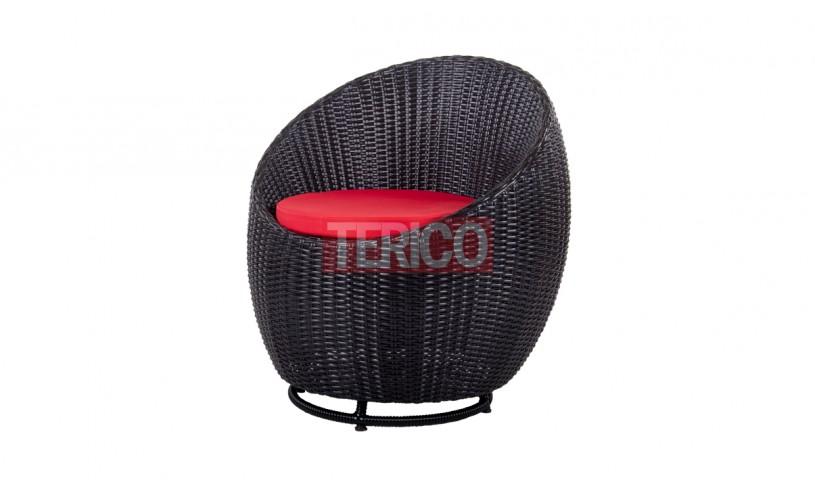 Кресло из ротанга Пандора 745х800х835h вращающееся