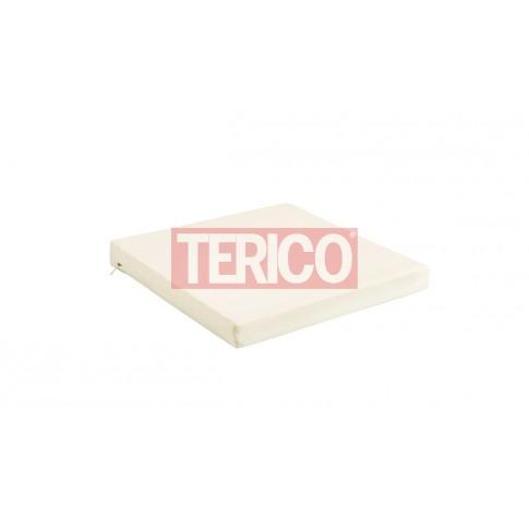 Подушка для сидения 440(320)х400х50h (полиэстр, две тесьмы)