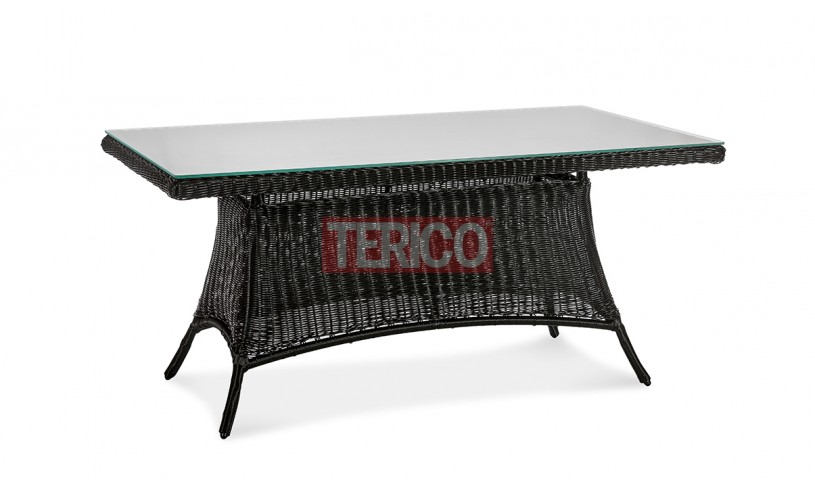 Стол обеденный из ротанга Мехико 1600х900х750h